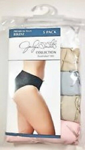 Jaclyn Smith 2PK of 5PC Women/'s Premium Plus Bikini  White//color asst Size10 NWT