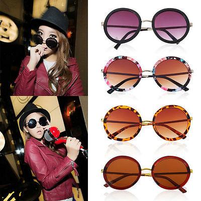 Unisex Women Fashion Retro Vintage Style Sunglasses Glasses Round Metal Frame