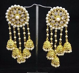 Image Is Loading Indian Women Bridal Earrings Gold Plated Jewelry Antique