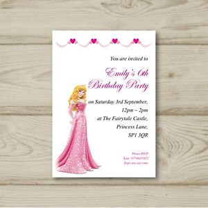 Image Is Loading Disney Princess Aurora Birthday Party Invitations Sleeping Beauty