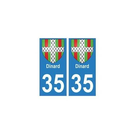 35 Dinard blason autocollant plaque stickers ville -  Angles : arrondis
