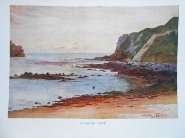 Dorset 1925 Original Antiquarian Print of Lulworth Cove by Walter Tyndale