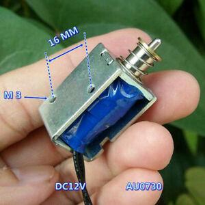 DC 12V Push Pull Through Type Mini DC Solenoid Electromagnet Impact Type Magnet