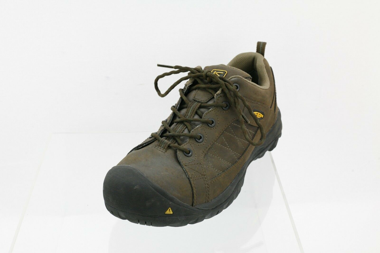 Men's Keen F2413-11 Brown Lace-up Steel Toe Work shoes Size 10 M