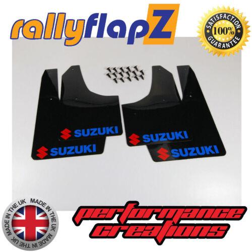 3 Mm De Pvc Rallyflapz Suzuki Ignis Sport 03-05 mudflaps Negro Logo Rojo /& Azul