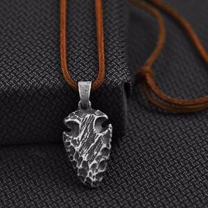 Twister Western Jewelry Mens Necklace Hammered Arrow Head Leather