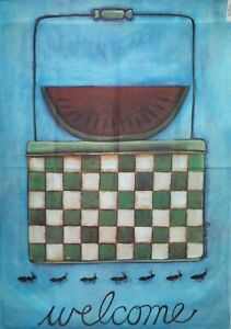 """Summer Picnic Standard House Flag by Toland #2002, 28""""x40"""". Last one."""