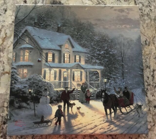 Thomas Kinkade Studios The Nativity 10 x 14 Wrapped Canvas