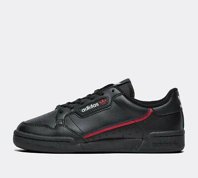 CMF11 Junior Adidas Originals Continental 80 Black Trainers RRP £44.99
