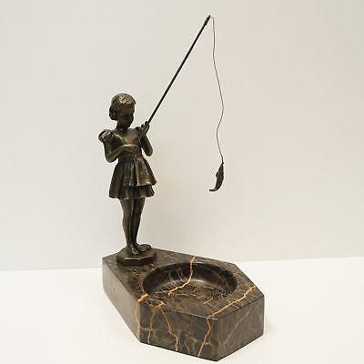 Statue Sculpture Child Art Deco Style Art Nouveau Style Solid Bronze Signed Ebay