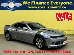 2015 Chevrolet Camaro 2LT RS Leather, Roof, HUD, Clean CarFax