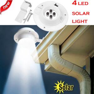 Solar-Powered-4-LED-Gutter-Light-Outdoor-Garden-Yard-Wall-Fence-Pathway-Lamp-US