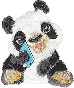 Zoo Animal Embroidered Iron On Applique Patch Wild Animal Panda Bear Face
