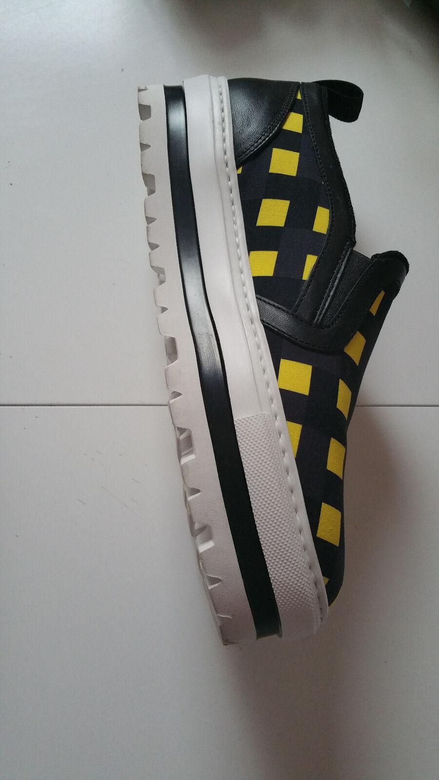 MSGM Sneaker, Sneaker, MSGM schwarz-gelb kariert, Gr. 40 7996b4