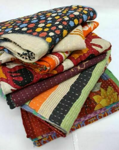 Wholesale Lot Vintage Decorative Quilts ThrowBlanket Bedspread Ralli Quilt Gudri