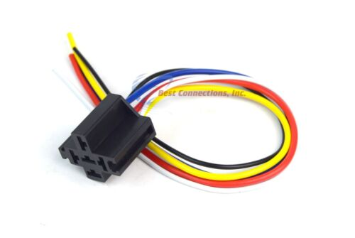 Pin 5-Wiring Relay Harness Socket Automotive Truck Car 25 Pcs Install Bay 5