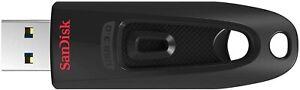 Clé USB 3.0 SanDisk Ultra 128Go Vitesse de Lecture Allant jusqu'à 130 Mo/s Noir