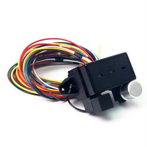 12v 10 circuit basic wire harness fuse box rat rod wiring car new ebay