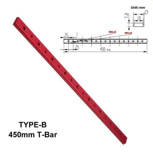 T-Track Miter Slot Slider Bar Table Saw Gauge Aluminium Alloy Woodworking Tools*