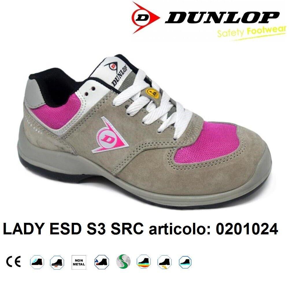 Dettagli su DUNLOP SCARPE ANTINFORTUNISTICA DONNA LADY ESD S3 SRC 0201024 +