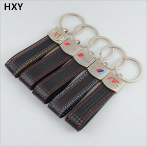S-Line-Leather-Keychain-for-Audi-Key-Chain-Sline-Keyring-BMW-R-RS-New-Band
