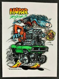 Mopar-Rips-STICKER-Decal-Big-Daddy-Ed-Roth-Rat-Fink-Official-Original