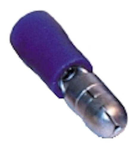 Terminales aislados pre Azul balas Macho 5.0MM para 1.5-2.5MM² Cable Qty 500