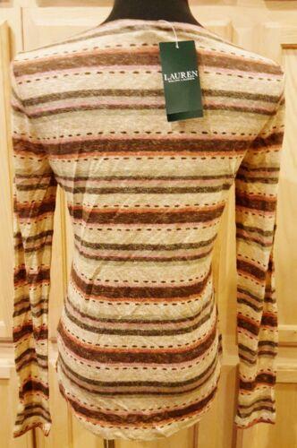 Print Linen Top color Ralph Aztec Multi Neck 200600437001 Scoop Lauren Soft S nRHzqxwRgF