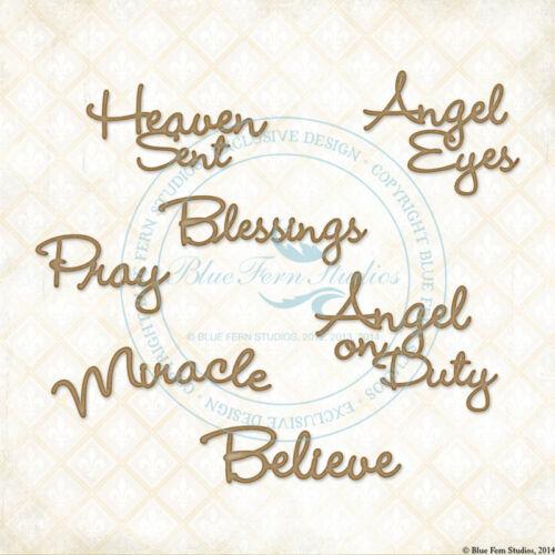 Blue Fern Chipboard Spiritually Speaking Heaven angel blessings pray miracle