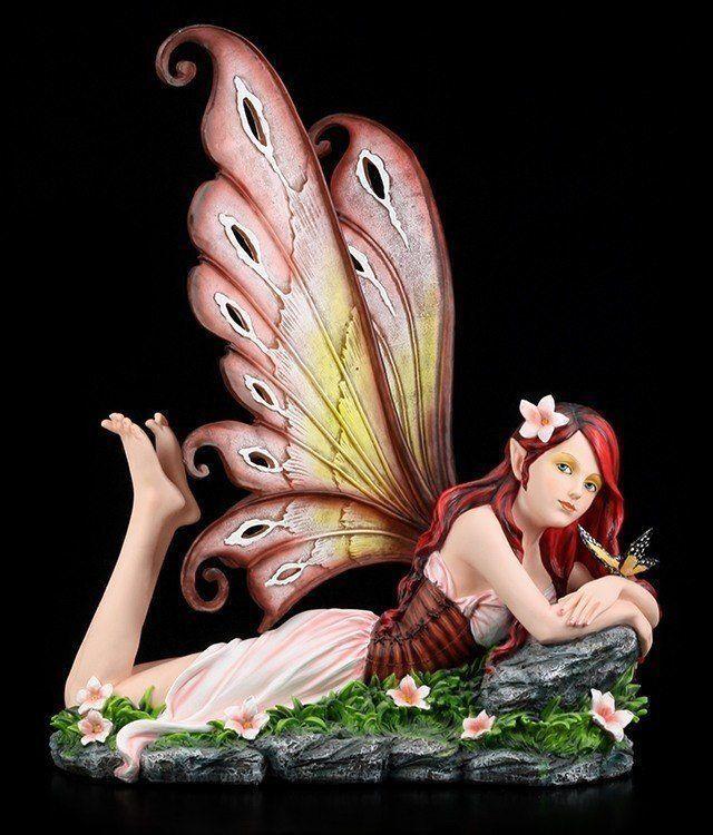 Big Elf Figurine - Annabelle Lying down - Fantasy Fairy Elf Princess Deco Statue