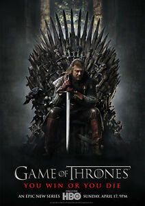 STICKER AUTOCOLLANT POSTER A4 SERIE GAMES OF THRONES.TRONE DE FER CORBEAUX 3YEUX Film, tv-series, strips