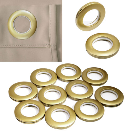 40mm Extras Large Size Round Curtains Eyelet Grommets Golden