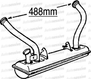 CITROEN 2C 0.6 74-90 Silenciador De Escape Caja Con Tubo Delantero Pieza De Repuesto reemplazar