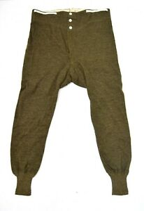 French-Army-1940-039-s-Dated-Long-Johns-Thermal-Bottoms-Rare-Vintage-Cotton-Wool