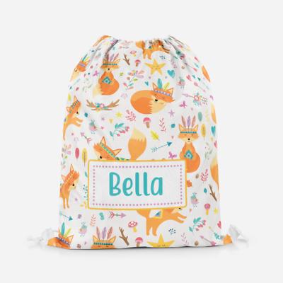 Personalised Sloth Girls Kids Drawstring Bag Pe Bag Swimming School Bag