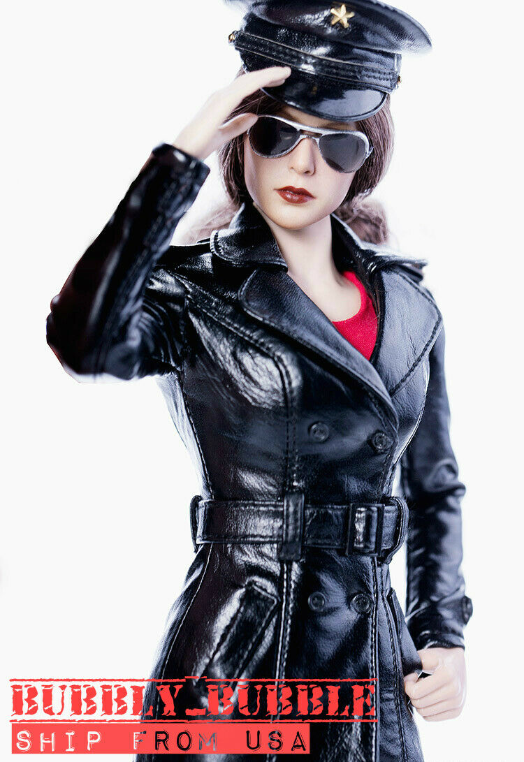 1 6 Leather Trench Coat Set For 12  PHICEN TBLeague Hot Toys Female Figure  USA