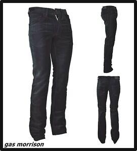 Gas-Pantaloni-jeans-da-uomo-neri-slim-fit-gamba-dritta-dritti-vita-bassa-w29-w30