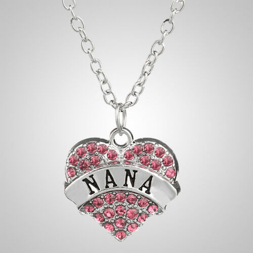 Retro Crystal Heart Necklace Pendants Chain Jewelry Gifts