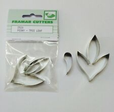Cake Decorating Metal 252S Peony Tree Leaf by Framar Cutters