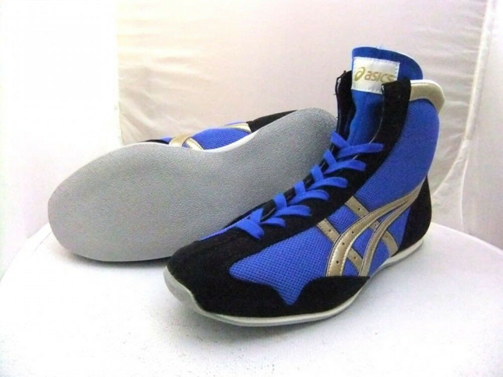 Asics Boxing shoes Short type Original color blueee x navy x gold