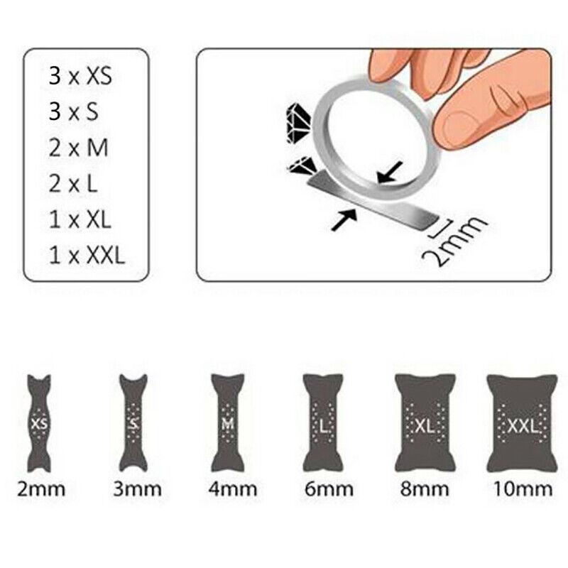 6x Universal Ring snuggies Size Adjuster Reducer Sizer SPIRAL Resizing Tools
