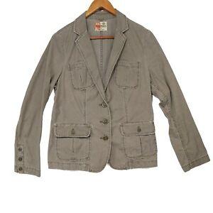 Ruff Hewn Women's Green Canvas Utility Jacket - Size Small