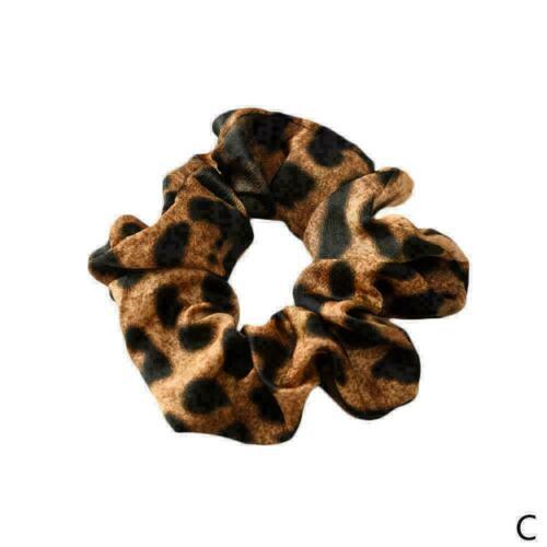 Lady Hair Scrunchies Brötchenring Elastic Floral Leopard Bobble Sports T0E6 O7K9