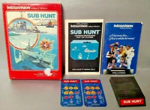 Sub-Hunt-Intellivision-Complete-Game-w-Game-Box-Manual-amp-Keypad-Covers