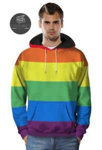half off 153e9 9d69b Dettagli su Pride Felpa Con Cappuccio Con Cappuccio Maglione Con Cappuccio  Amore Gay Rainbow LGBT Abbigliamento AMORE VINCE- mostra il titolo ...