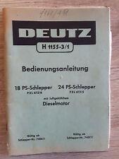 Original Deutz Fahr Bedienungsanleitung F 2L 612/6  612/5
