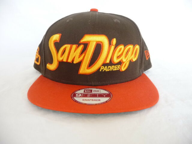 wholesale dealer de4e8 7bff6 New Era 9Fifty San Diego Padres Cooperstown Collection Flat Brim Snapback  Cap