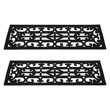 """Set of Non-Slip Stair Tread Mats - 9.25"""" x 28.5"""" Traction Easy to Clean"""