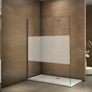 120x200cm paroi de douche italienne verre d poli anticalcaire 8mm barre r glable ebay. Black Bedroom Furniture Sets. Home Design Ideas