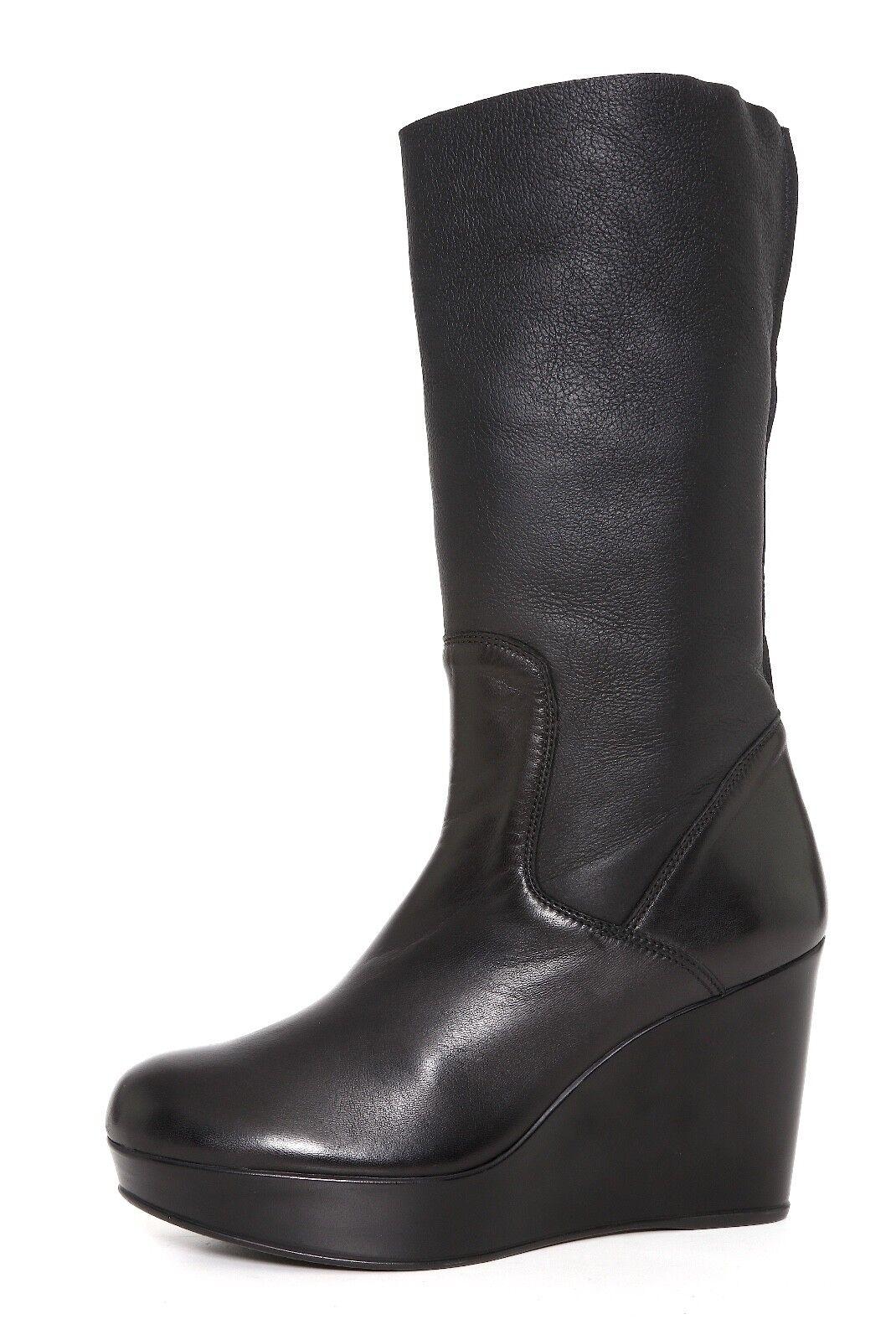 Stuart Weitzman bota de cuña de nieve de cuero cuero cuero Negro para Mujeres Talla 11 M 6578   venta al por mayor barato